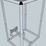 Image of Google SketchUp model of portable multi-touch table
