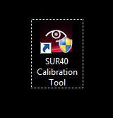 SUR 40 Calibration Tool Icon
